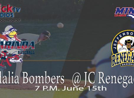 Sedalia Bombers @ JC Renegades