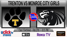 CLASS 3 STATE SECTIONALS TRENTON VS MONROE GIRLS