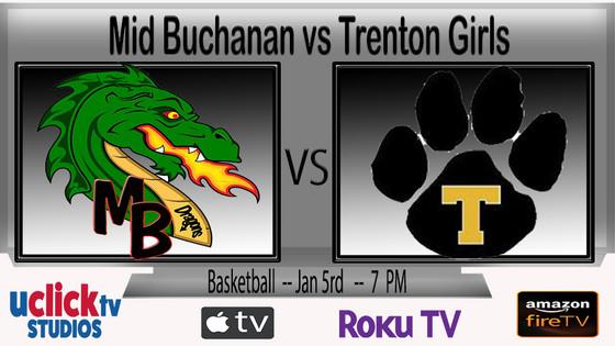 Mid-Buchanan girls vs. Trenton