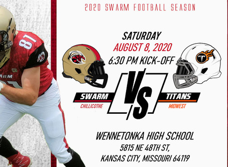 Chillicothe Swarm v Midwest Titans Sat. 8th at 6:30p