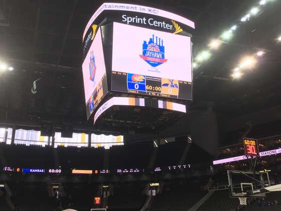 Live From the Sprint Center Pre-game for  KU vs KC Roos