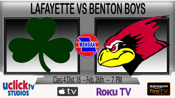CLASS 4 DIST. 16 SEMI FINAL BOYS BENTON VS LAFAYETTE