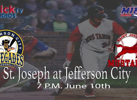 St. Joseph Mustangs @ Jeff City Renegades Tonight at 7 PM