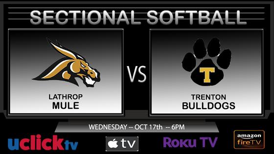 WATCH LIVE: Sectional Softball Trenton v. Lathrop