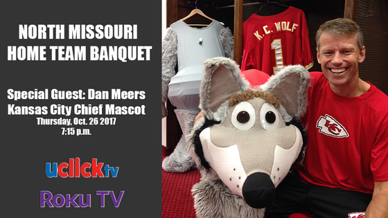 KC Wolf Appears at North Missouri FCA Banquet