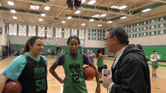 PRE SEASON INTERVIEWS WITH LAFAYETTE PLAYERS Tatiana Jackson & Adams