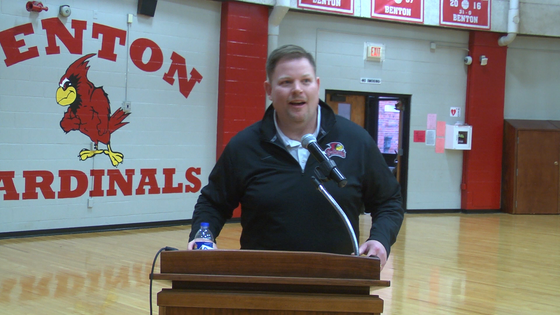 Watch: Benton Signs Football Coach Keeton