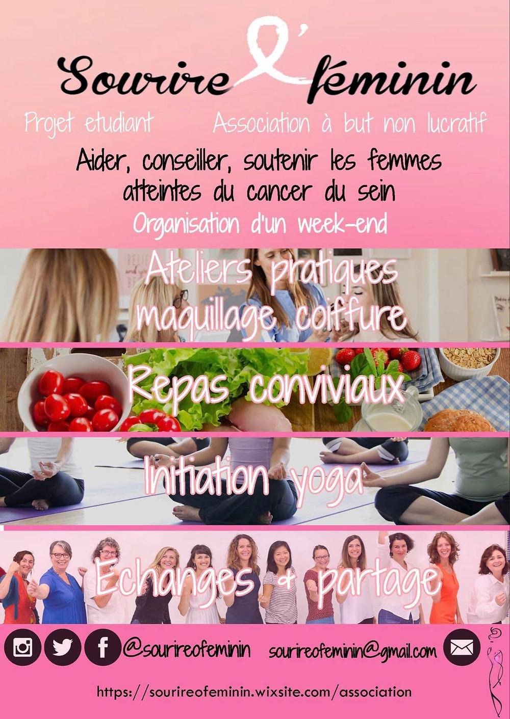 association, cancer du sein, sourireofeminin, prendre soin de soi, soutien