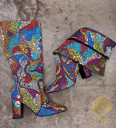 Botas de puntos multicolor #2