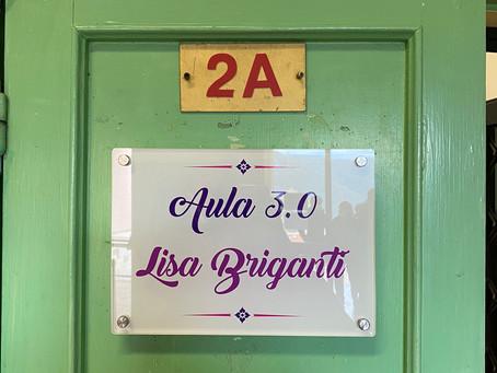 Oggi è avvenuta l'inaugurazione dell'aula nella Scuola Media di Carpineto, dedicata a Lisa