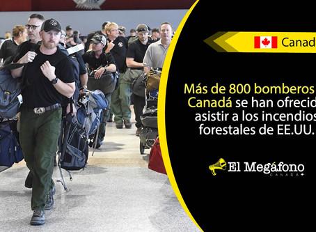 Bomberos de Columbia Británica se dirigen a los EE.UU. ha combatir los incendios forestales
