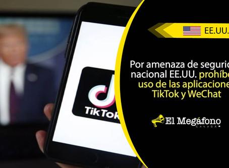 Estados Unidos prohíbe las descargas de TikTok y el uso de WeChat a partir de este domingo