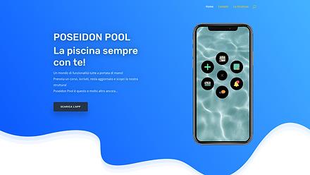 Poseidon Pool  Sito dell'app della piscina Poseidon Pool,  (sviluppata daLuxy Web Design™)