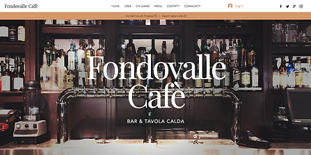 Fondovalle Café  Sito community con prenotazioni e personalizzazione cocktail.