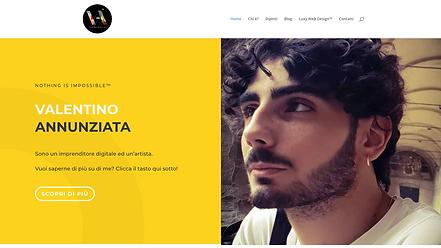 Valentino Annunziata  Sito dell'imprenditore ed artista, co-fondatore di  Luxy Web Design™