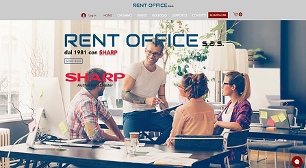 RentOffice Sas  E-commerce del concessionario Sharp RentOffice