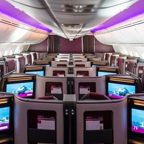 Qatar apresenta nova geração B787-9 Dreamliner com nova classe