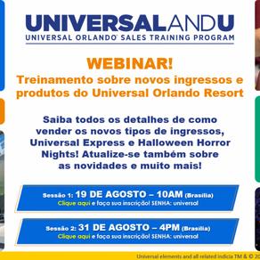 Universal realiza dois novos treinamentos neste mês; inscreva-se