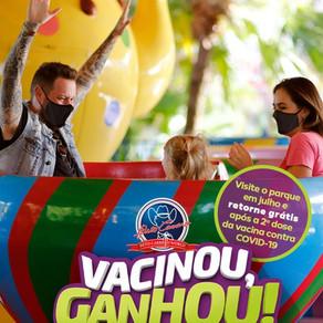 Beto Carrero World dará ingresso de retorno para vacinados