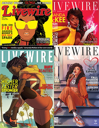 COMPLETE SET: Fashion Cover Variants Livewire #9 (4 Issues)