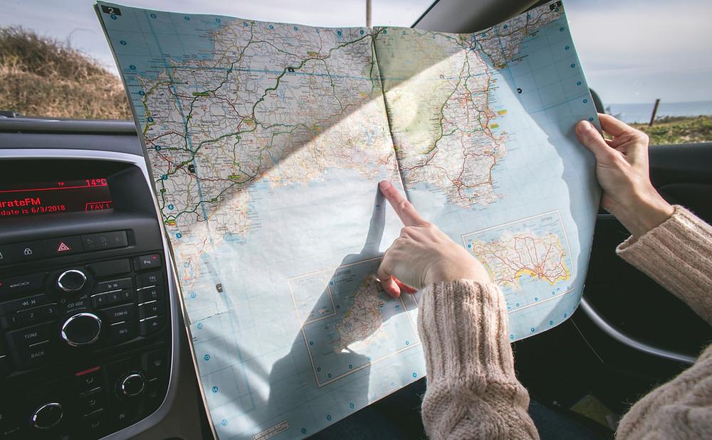 Navigating Road Map