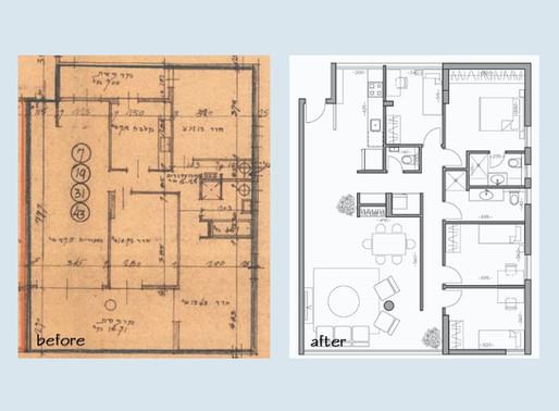 """כיצד הפכנו דירת 115 מ""""ר מדירת 4 חדרים לדירת 5 חדרים מרווחת"""