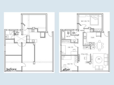 """דירת 100 מ""""ר, 4 חדרים"""