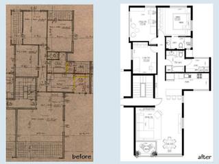 """לפני ואחרי, דירת 4 חדרים 120 מ""""ר"""