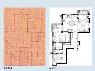 """לפני ואחרי דירת 3 חדרים 80 מ""""ר"""
