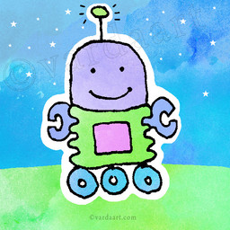 It's a cute robot