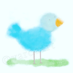 fuzzy blue bird