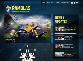 Soccer Fanclub Website Template WIX - Soccer website templates
