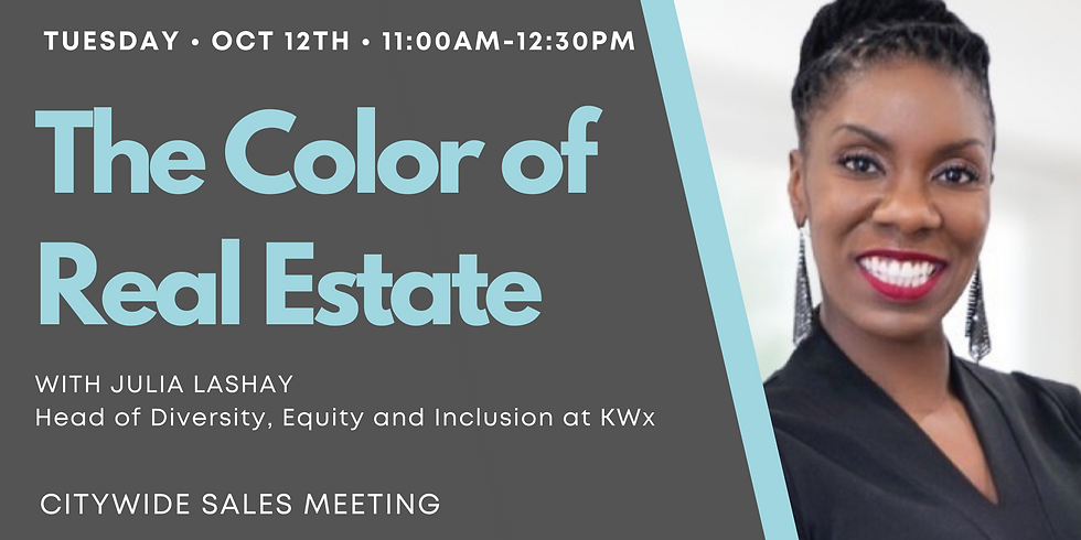 October Citywide- The Color of Real Estate