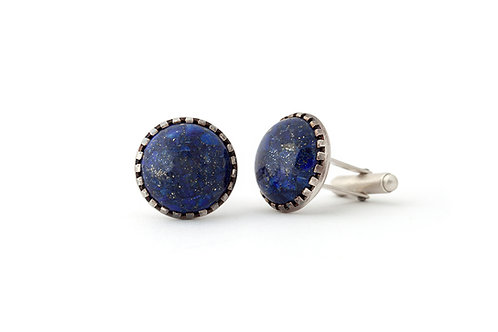 Blue Lapis Gemstone Cufflinks