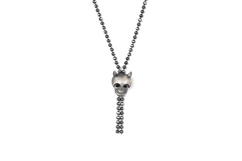 Skull & Horns Beads Necklace