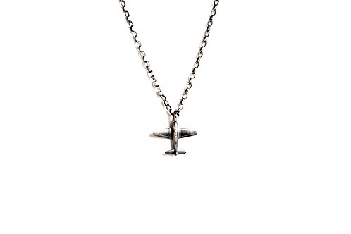 Airplane Pendant on Sterling Silver Chain