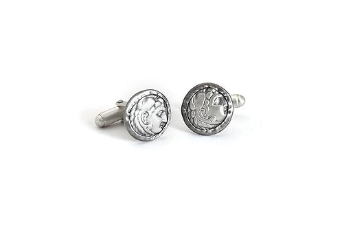 Silver Coins Cufflinks