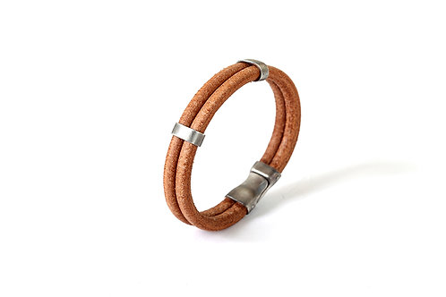 Leather Bracelet With Sterling Silver