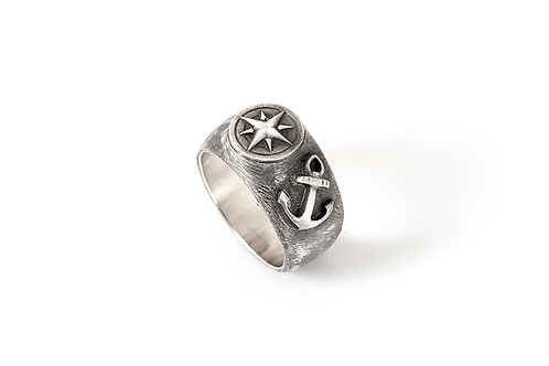 Compass Star and Anchor Ring