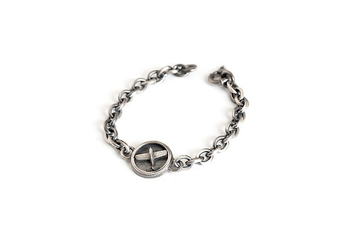 Men Chain Link Airplane Bracelet