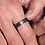 Thumbnail: Silver and Gold Men's Ring Band