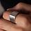 Thumbnail: Cool Men's Ring, Peak Ring in Sterling Silver
