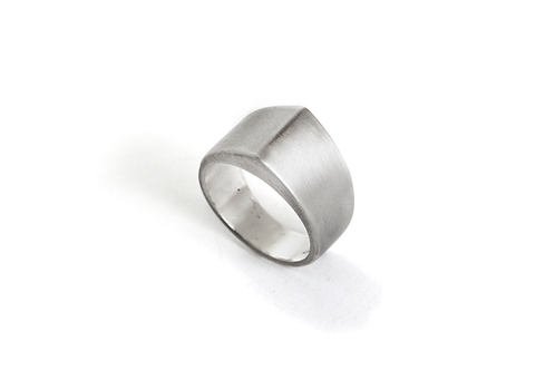 Cool Men's Ring, Peak Ring in Sterling Silver