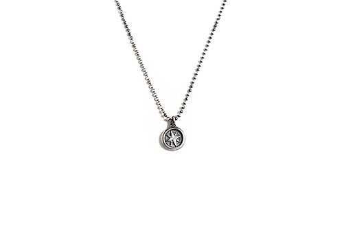 Compass Necklace on Sterling Silver Ball Chain