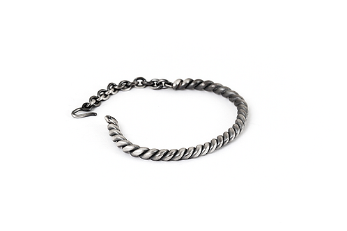 Twisted Rope Sterling Silver Bracelet