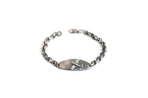 Airplane Pendant Chain Link Bracelet