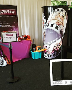 Glimmerbooth Black Film Reel Wedding Photo Booth