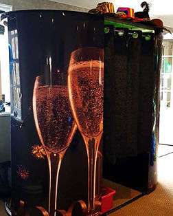 Black Champagne Enclosed Photo Booth Glasgow Cheap