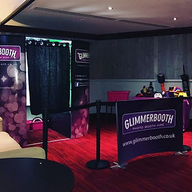 Glimmerbooth purple photobooth