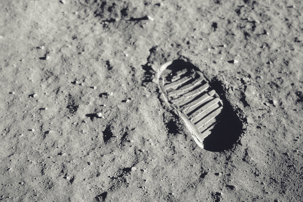 Step on the moon. Elements of this image
